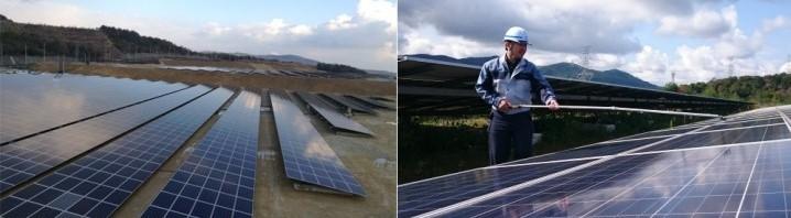 ソラメンテにより点検を行っているF西宮太陽光発電所