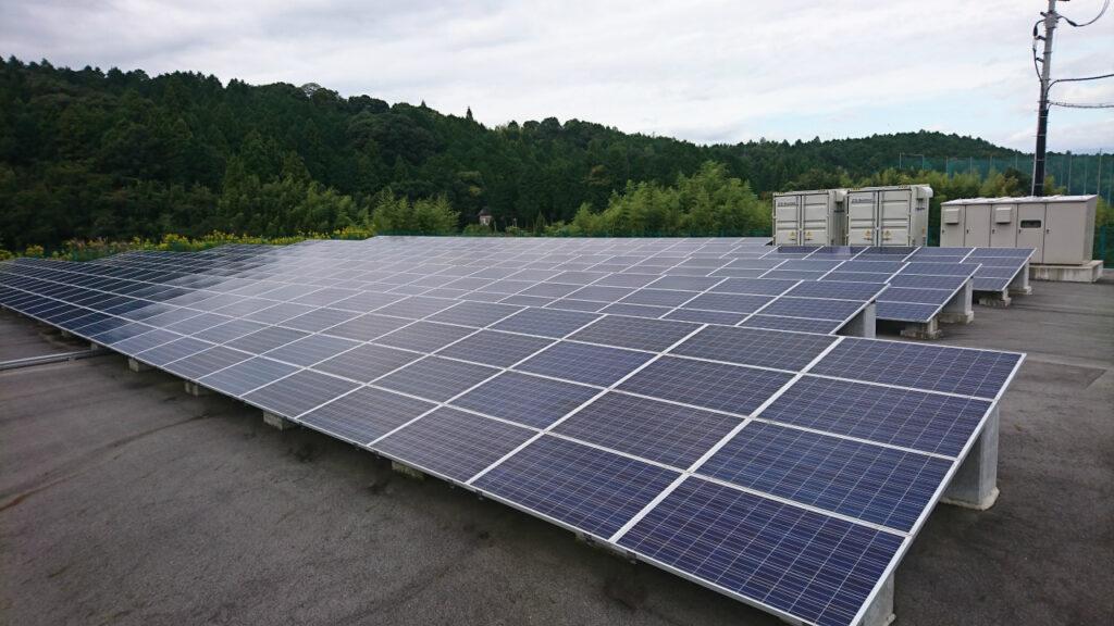 さんでん様が点検を受託している滋賀県栗東市の産業太陽光発電所