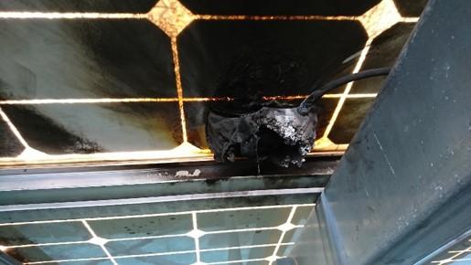 雷による太陽光パネル故障の調査