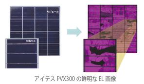 アイテスPVX300の鮮明なEL画像