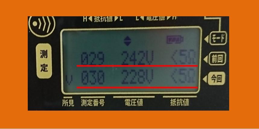 SZ100測定画面