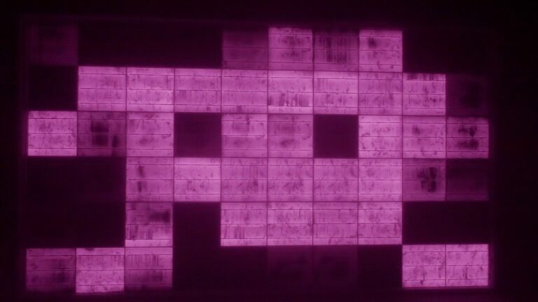 PID現象のEL画像